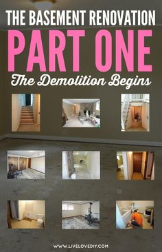 The Basement Renovation, Part One! If you've ever been overwhelmed by a home that's old and out of date, this is a refreshing look at the possibilities of renovating on your own!