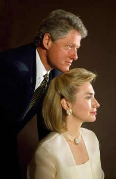"""Upon taking office Mr Clinton assumed that every US president was """"Karshed"""" and Mr Karsh was persuaded out of retirement to make some photos with Bill and Hillary. Description from acurator.com. I searched for this on bing.com/images"""