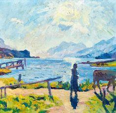 "#Giovanni Giacometti "" Le Soleil du matin sur le lac Sils "" 1924"