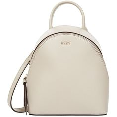 DKNY Mini Bryant Park Backpack Cross Body Bag ($240) ❤ liked on Polyvore featuring bags, backpacks, mini crossbody, mini cross body bags, day pack backpack, crossbody backpack and white cross body bag