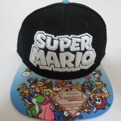 Super Mario Nintendo Hat Cap Snapback Baseball COMICS COSTUME COSPLAY Hat   Bioworld  BaseballCap 48b8ab16e731