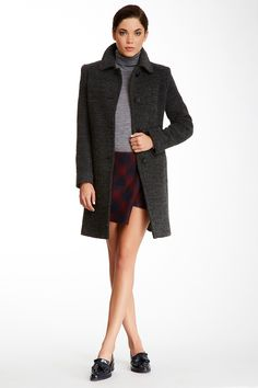 Long Gray Wool Blend Coat by Fleurette on @nordstrom_rack