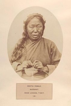 Bhotia woman, Buddhist, near Lhassa, Tibet. (1868-1875)