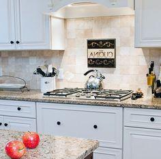 New Gold Granite Countertops traditional