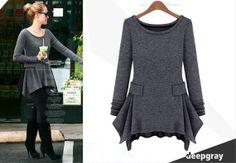 Spring Women's round neck longsleeved knit dress by PriJeBox, $28.99