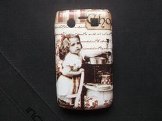 Lets go Cooking Collection 1 decoupage case/ Classic /Vintage / for Blackberry 9780/ Blackberry 9700/ Cover case / Hard Case / Accessories on Etsy, ฿506.54