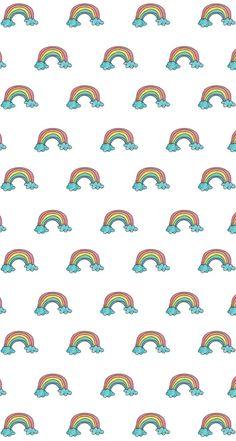 Wallpaper, lockscreen, arco-íris, pastel
