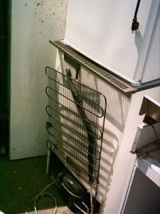 backoffridge 225x300 How to Make a $5 Solar Powered Water Heater From Junk Fridge