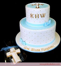 First Communion cake » Pink Cake Box Wedding Cakes & more