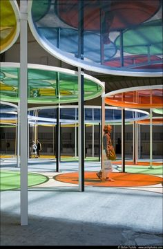 Image 5 of 41 from gallery of Monumenta 2012 / Daniel Buren. Landscape Structure, Landscape Architecture, Interior Architecture, Landscape Design, Urban Landscape, Design D'espace Public, Daniel Buren, Playground Design, Shade Structure