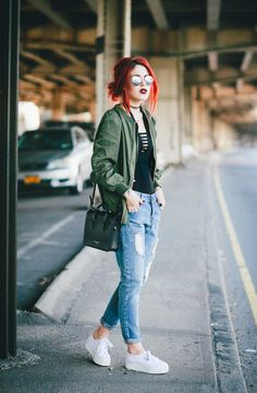 Jacket: le happy blogger windbreaker boyfriend jeans ripped jeans white sneakers casual superga