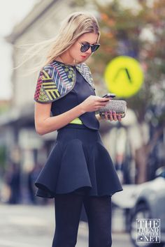 Latest Fashion Trends I Plaids I Cropped Tops I Fringing I Ties - The Trend Spotter   Fashion, Trends, Street Style, Blog, Runways
