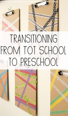 Transitioning From Tot School to Preschool at Home...