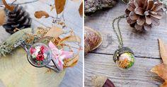 Toñi Rielvez - Siamesa vyrába nádherné šperky s kúskami prírody vo vnútri malých sklenených terárií. Handmade šperky s teráriami ukrývajú kúsky prírody