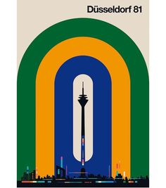 "bolundberg on Instagram: ""New Around the World motif, Düsseldorf with the Rhine Tower in the middle. #dusseldorf #illustration #print #poster #aroundtheworld #travel…"" News Around The World, Around The Worlds, Travel Posters, Tower, Print Poster, Middle, Illustrations, Instagram, Rook"