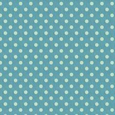 Tilda Winterbird Big Spot Blue Fabric. 100% cotton, Width: 140cm. Wash at 40 degrees. Shrinkage 5%.