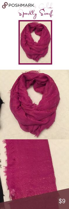 Pink & Gold Sparkling Scarf Pink & Gold Sparkling Lightweight Scarf. Perfect that little something to make an Outfit Fabulous. Accessories Scarves & Wraps