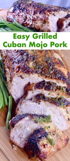 JUICY, TENDER, WITH HINTS OF GARLIC AND CITRUS THIS GRILLED CUBAN MOJO PORK ROAST RECIPE IS AN EASY, YET IMPRESSIVE MEAL TO SERVE FOR COMPANY.