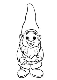 Gnome Coloring Pages Cute Page Free Printable coloring Coloring Pages Nature, Garden Coloring Pages, Cartoon Coloring Pages, Animal Coloring Pages, Coloring Pages To Print, Free Printable Coloring Pages, Coloring Book Pages, Coloring Pages For Kids, Kids Coloring