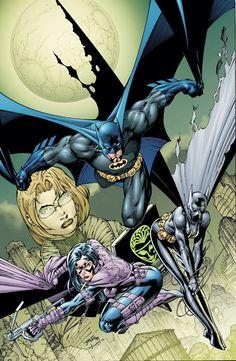 super-nerd:  Batman & Co. by Jim Lee