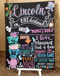 Alice in wonderland inspired ONEderland first by LittleMacDesign