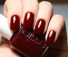 Essie Nail Polish Discounted New Fall Nail Polish Trends 2015 Burgundy Nail Polish, Dark Red Nails, Fall Nail Polish, Gel Polish, Oxblood Nails, Manicure Y Pedicure, Fall Nail Colors, Nail Colour, Lip Colors
