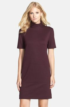 Donna Morgan Mock Neck Knit Shift Dress available at #Nordstrom