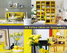 50 Ideas of How to Bring Yellow Inside My room is yellow white and grey—gotta pin this