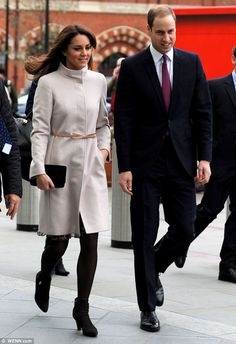 Prince William, Duke of Cambridge and Catherine, Duchess of Cambridge arrived at Kings Cross station to board a train to Peterborough early this morning