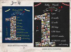 First Anniversary Gift Photo collage por YourLifeMyDesign en Etsy