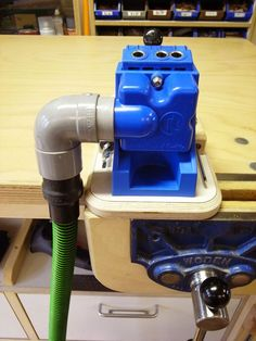 Kreg K4 Jig modification - fits in a press, wider base, tool storage on the side
