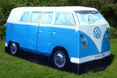Want a unique camping experience? Check out this retro-cool VW Camper Van Tent! #camping #tent #outdoors #fun