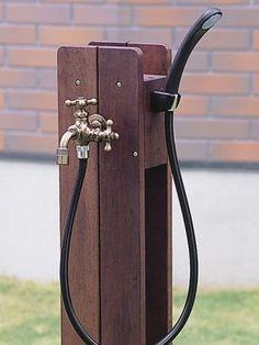ガーデニング ウッドウォール立水栓(小)