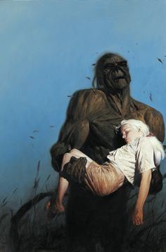 Swamp Thing and Abby by Phil Hale