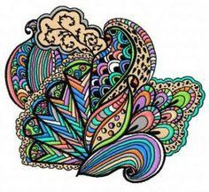 Multicolor decoration machine embroidery design. Machine embroidery design. www.embroideres.com