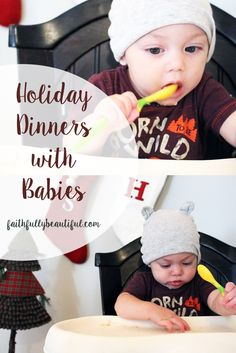 Holiday Dinner with Babies, Gerber Baby, Christmas with Baby, Babys First Food, #Ad