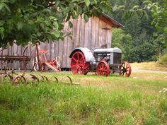 I love old tractors.