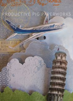 Flight to Italy: ANA PLane Quilling