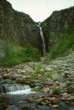 Njupeskär, Dalarna, Sweden's highest waterfall ( about 90m )
