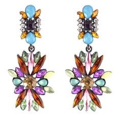 2015 New Elegant Colorful Drop Alloy Earrings Bohemia Style For Women Fashion Jewellery