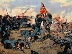 The fight for the Colors - Battle of Gettysburg, July 1, 1863