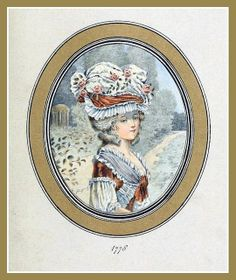 Hats by Madame Bertin  (Milliner to Marie Antoinette & the French Court) 1778