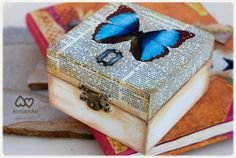 Caja decorada personalizable con decoupage: por AnniamAeDesigns