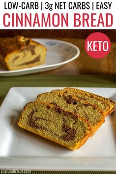 Easy Keto Cinnamon Bread Low Carb Recipe – A sweet keto quick bread that you can enjoy for breakfast or snack. Easy Keto Cinnamon Bread Low Carb Recipe – A sweet keto quick bread that you can enjoy for breakfast or snack. Keto Banana Bread, Best Keto Bread, Low Carb Bread, Quick Bread, Keto Diet Breakfast, Breakfast Recipes, Lunch Recipes, Seafood Recipes, Dessert Recipes