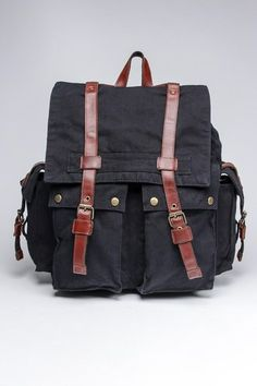 canvas backpack with leather details #fathersday #manbag