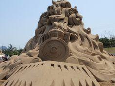 """USA"" (back) - World Sand Sculpture Festival 2009, Japan"