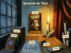 FREE for limited time (Feb.9, 2013): Da Vinci History - Book App for kids