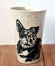 Dog Coffee Mug, Dog Cat Portrait Cup, Animal #housewares @EtsyMktgTool http://etsy.me/2jCf4q1