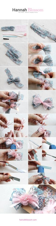 (OPEN RECIPE-BK489)Spring Hair Crip hannahblossom.com #DIY #hairpin #hairclip #howtoclip #hair #hannahblossom #haircripdiy #diy #hairaccessory