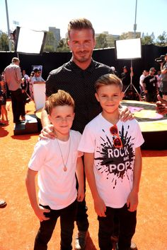 Pin for Later: Here's What David Beckham and His Sons Would Look Like as Trophies